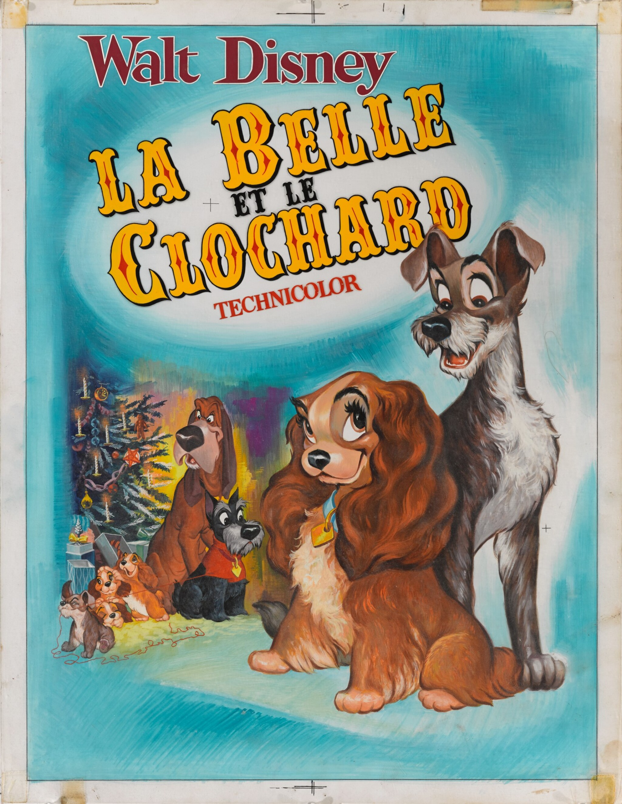 View full screen - View 1 of Lot 28. LADY AND THE TRAMP / LA BELLE ET LE CLOCHARD (1955) ORIGINAL ARTWORK, FRENCH.