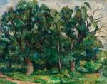 PETR PETROVICH KONCHALOVSKY | GREEN OAK TREES AT TWILIGHT
