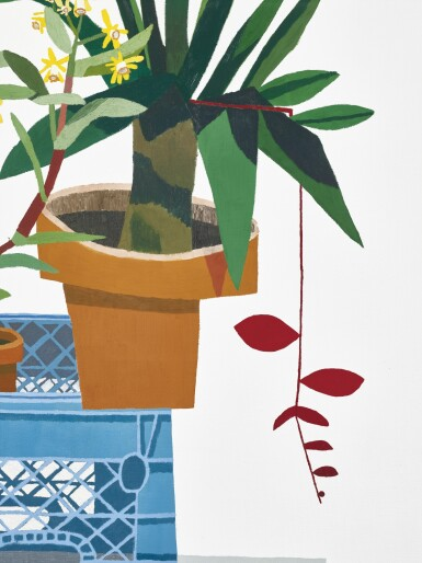 View 4. Thumbnail of Lot 1110. JONAS WOOD 喬納斯・伍德 | BLUE CRATE WITH STILL LIFE 藍板箱與靜物.