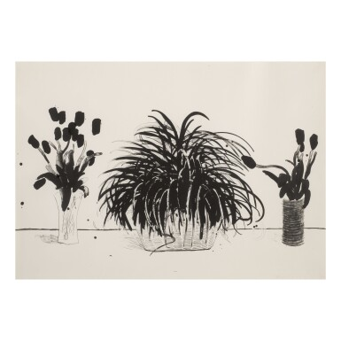 View 1. Thumbnail of Lot 211. DAVID HOCKNEY | TWO VASES OF CUT FLOWERS AND LIRIOPE PLANT (MUSEUM OF CONTEMPORARY ART, TOKYO 232).