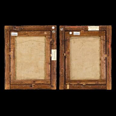 View 2. Thumbnail of Lot 189. Anglo-Chinese School, Early 19th century Mandarin Scholar and His Wife | 十九世紀初 英裔中國畫派   中國學者伉儷肖像一組兩幅   布本油畫 木框.