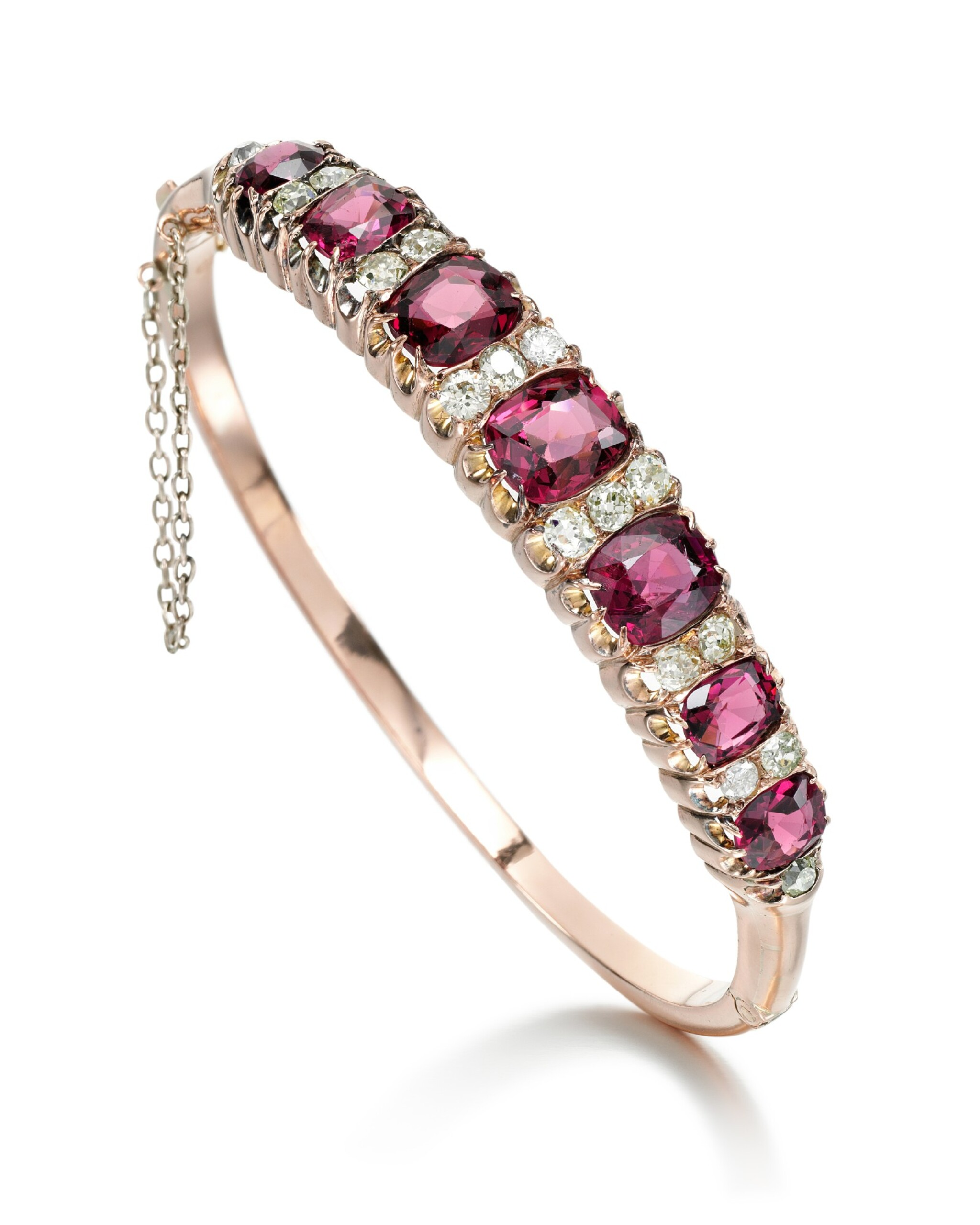 View full screen - View 1 of Lot 217. SPINEL AND DIAMOND BANGLE  .