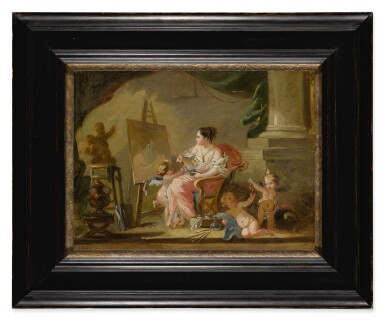 View 2. Thumbnail of Lot 614. An allegory of painting.