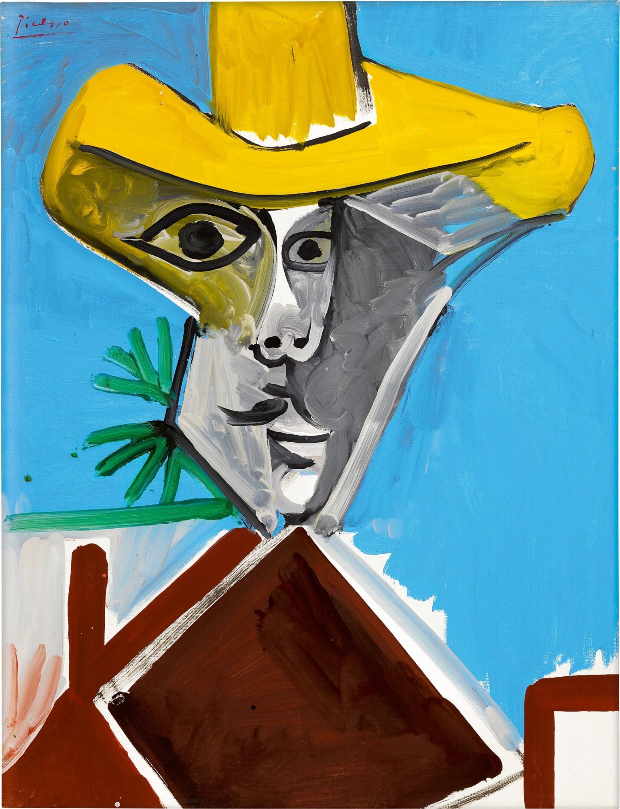 View full screen - View 1 of Lot 12.  Pablo Picasso 巴布羅・畢加索 | Buste d'homme 男子半身像.
