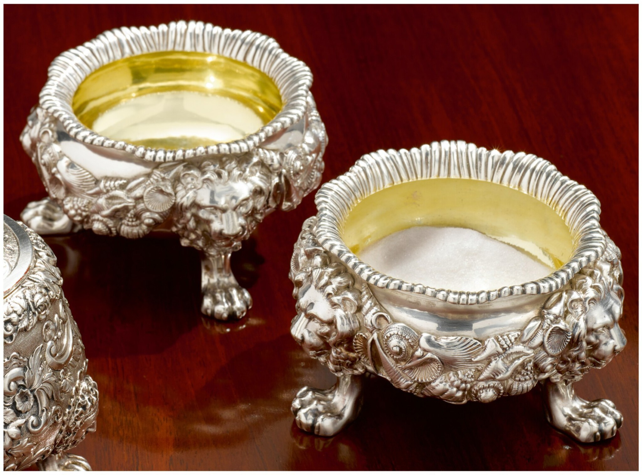 View full screen - View 1 of Lot 20. A PAIR OF GEORGE IV SILVER SALTS, PAUL STORR, LONDON, 1821-22.