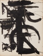 MICHAEL (CORINNE) WEST   UNTITLED (BLACK AND WHITE ABSTRACT)