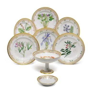 View 1. Thumbnail of Lot 87. A Set of Six Royal Copenhagen 'Flora Danica' Dinner Plates, Modern.