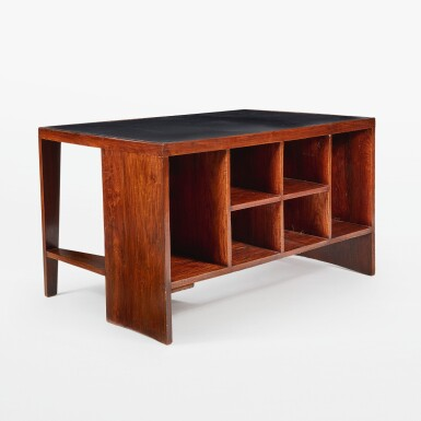 """View 3. Thumbnail of Lot 84. """"Pigeonhole"""" or """"Office Table"""" Desk, Model No. PJ-BU-02-A."""