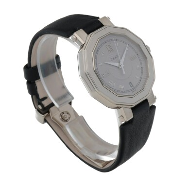 View 3. Thumbnail of Lot 420. REF GXXVI WHITE GOLD WRISTWATCH WITH DATE CIRCA 2010.