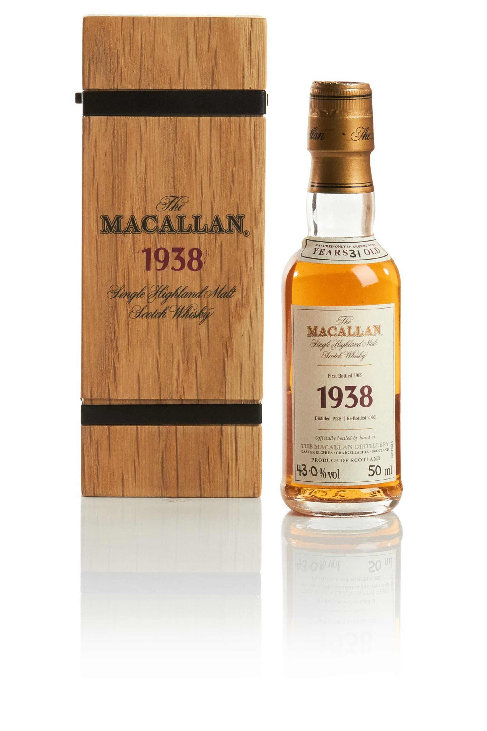 View full screen - View 1 of Lot 151. THE MACALLAN FINE & RARE 31 YEAR OLD 43.0 ABV 1938.