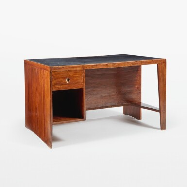 """View 1. Thumbnail of Lot 84. """"Pigeonhole"""" or """"Office Table"""" Desk, Model No. PJ-BU-02-A."""