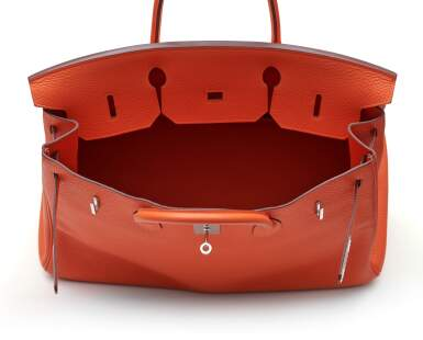 View 6. Thumbnail of Lot 313. Feu Birkin 40cm in Taurillion Clemence Leather with Palladium Hardware, 2014.