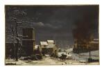 ETIENNE BOUHOT | A FIRE IN A WINTER LANDSCAPE