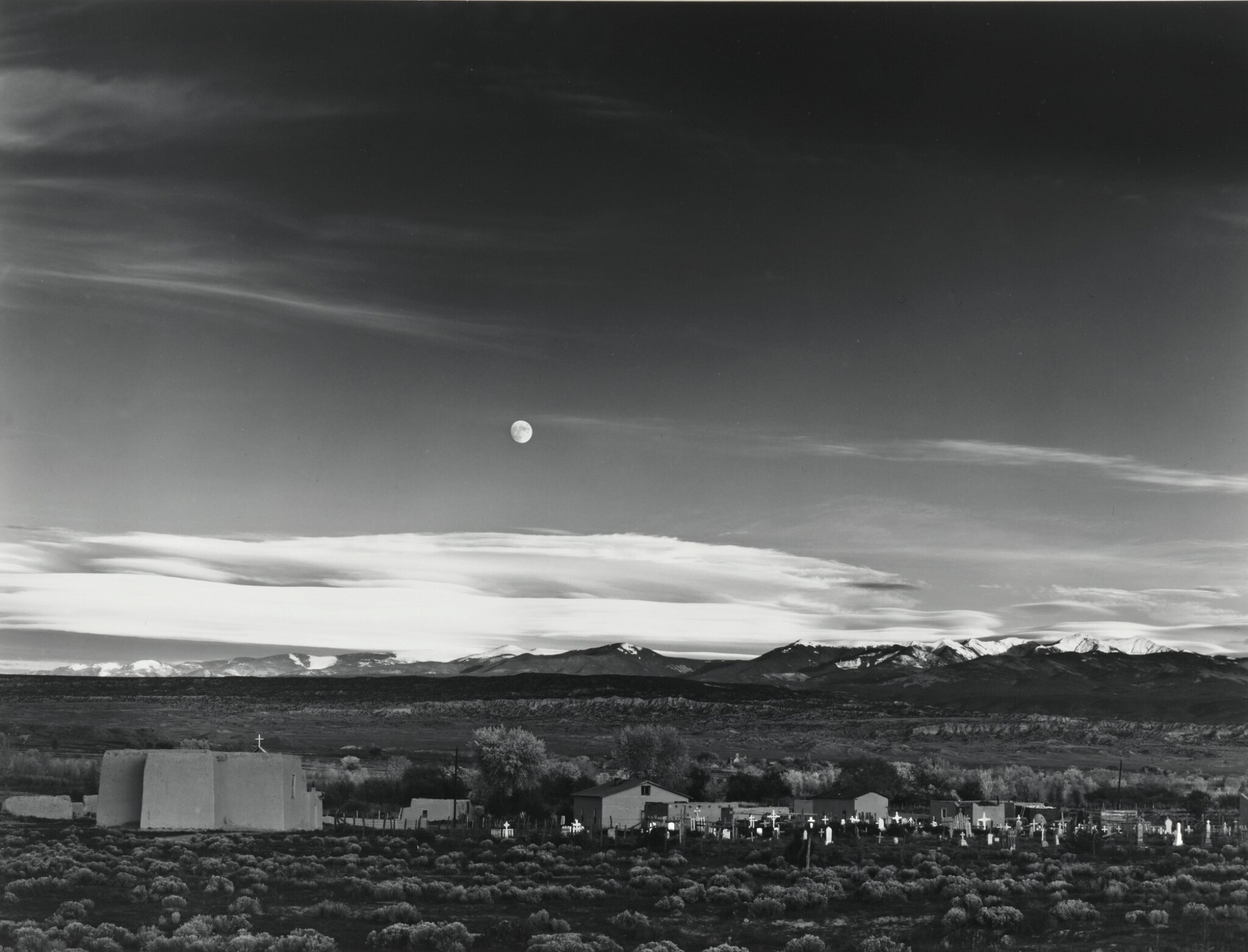 View full screen - View 1 of Lot 29. 'Moonrise, Hernandez, New Mexico'.