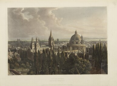 ACKERMANN, RUDOLPH | A History of the University of Oxford... London: R. Ackermann, 1814 [And:] The History of the Colleges of Winchester, Eton, and Westminster... London: R. Ackermann, 1816 [Watermarked 1812]