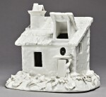 A MEISSEN WHITE MODEL OF A COTTAGE CIRCA 1745