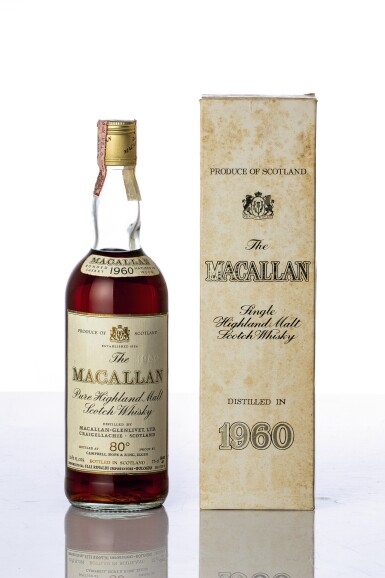 View 1. Thumbnail of Lot 5512. The Macallan 80 Proof 1960 (1 BT).
