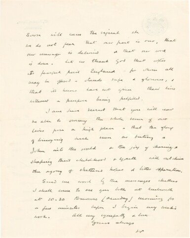 View 2. Thumbnail of Lot 24. Sir Winston Churchill | autograph letter signed, to Pamela, Lady Lytton, 1942.