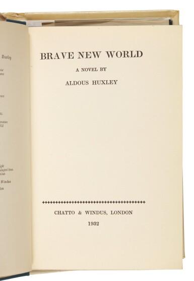 View 2. Thumbnail of Lot 101. Huxley, Brave New World, 1932 .
