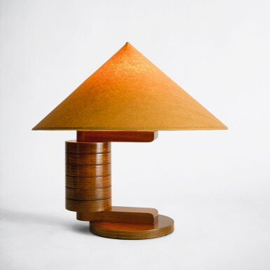 """View 1. Thumbnail of Lot 73. """"Rondins"""" Table Lamp."""