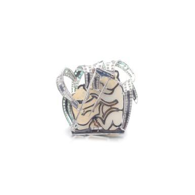 View 3. Thumbnail of Lot 62. Opal, tsavorite and diamond brooch, 'Koala'.