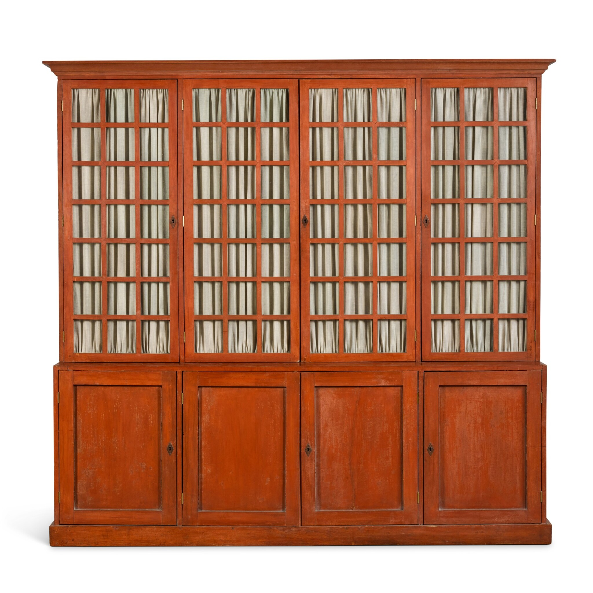 View full screen - View 1 of Lot 114. A PAINTED BOOKCASE, EARLY 20TH CENTURY.