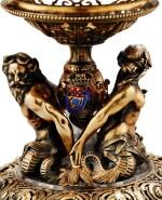 A FRENCH ROCK-CRYSTAL, SILVER-GILT AND ENAMEL CUP, BY MOREL & CIE, CIRCA 1850 | COUPE EN CRISTAL DE ROCHE, VERMEIL ET ÉMAIL, PAR MOREL & CIE, PARIS, VERS 1850