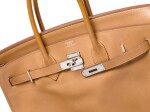 BIRKIN 35 NATURAL SABLE IN SWIFT LEATHER WITH PALLADIUM HARDWARE. HERMÈS, 2008