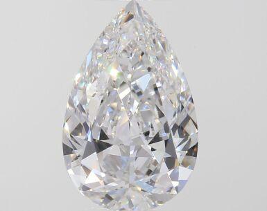 A 2.18 Carat Pear-Shaped Diamond, D Color, VVS2 Clarity 2.18卡拉梨形鑽石,D色,VVS2淨度