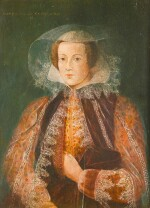 IN THE MANNER OF THE 16TH CENTURY, PROBABLY SCHOOL OF THE 19TH CENTURY [DANS LE GOÛT DU XVIE SIÈCLE, PROBABLEMENT ECOLE DU XIXE SIÈCLE]   MARY, QUEEN OF SCOTS [MARIE, REINE D'ECOSSE]