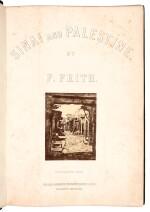 Frith. Sinai and Palestine. [1862], folio, 37 albumen prints, original cloth