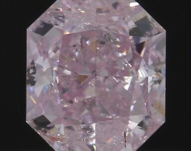 A 0.47 Carat Fancy Purplish Pink Cut-Cornered Rectangular Modified Brilliant-Cut Diamond