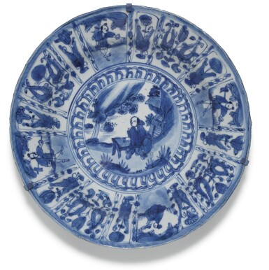 View 3. Thumbnail of Lot 7. A SET OF FIVE BLUE AND WHITE DISHES MING DYNASTY, WANLI PERIOD.
