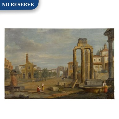 View 1. Thumbnail of Lot 102. Rome, a view of Campo Vaccino.