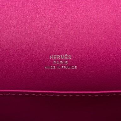 View 8. Thumbnail of Lot 15. Hermès Rose Pourpre Swift Mini Kelly Pochette.