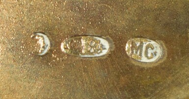 View 3. Thumbnail of Lot 238. A pair of silver-gilt and shaded enamel miniature kovshi, Maria Semenova, Moscow, 1908-1917.