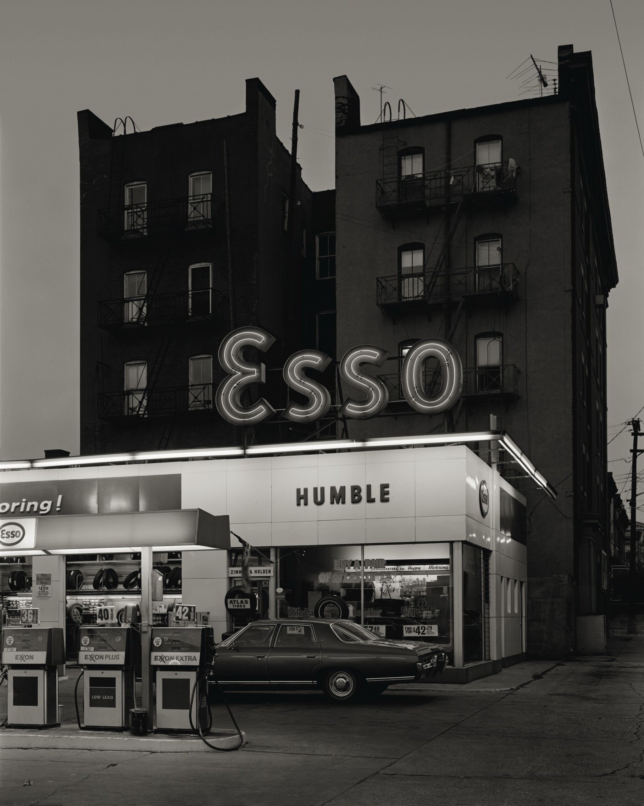 View full screen - View 1 of Lot 30. Esso Station and Tenement House, Hoboken, NJ.