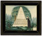 AMERICAN SCHOOL, 19TH CENTURY | WATERCOLOR MOURNING PICTURE FOR JOHN DAGGETT
