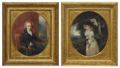 View 2. Thumbnail of Lot 126. Sold Without Reserve   SIR THOMAS LAWRENCE, P.R.A.   PORTRAIT OF WILLIAM HAMILTON, R.A., THREE-QUARTER-LENGTH; PORTRAIT OF MARY HAMILTON, R.A., THREE-QUARTER-LENGTH.