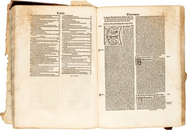 View 2. Thumbnail of Lot 2. Avenzohar | Liber teisir, Venice, 1496, limp vellum, and other works.