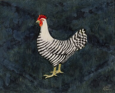 View 1. Thumbnail of Lot 1524. BEE DABNEY ADAMS | BLACK AND WHITE HEN.