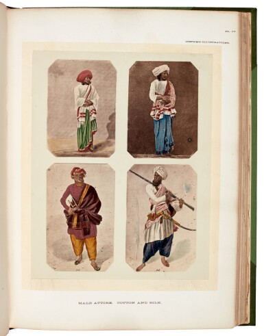 View 1. Thumbnail of Lot 183. John Forbes Watson | The Textile manufactures and the costumes of the people of India, 1867.