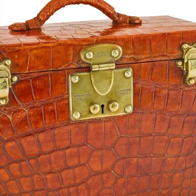 View 5. Thumbnail of Lot 98. Art Deco Torino Crocodile Skin Gentleman's Dressing Case, Complete with all of the Original Fittings commissioned in 1934..