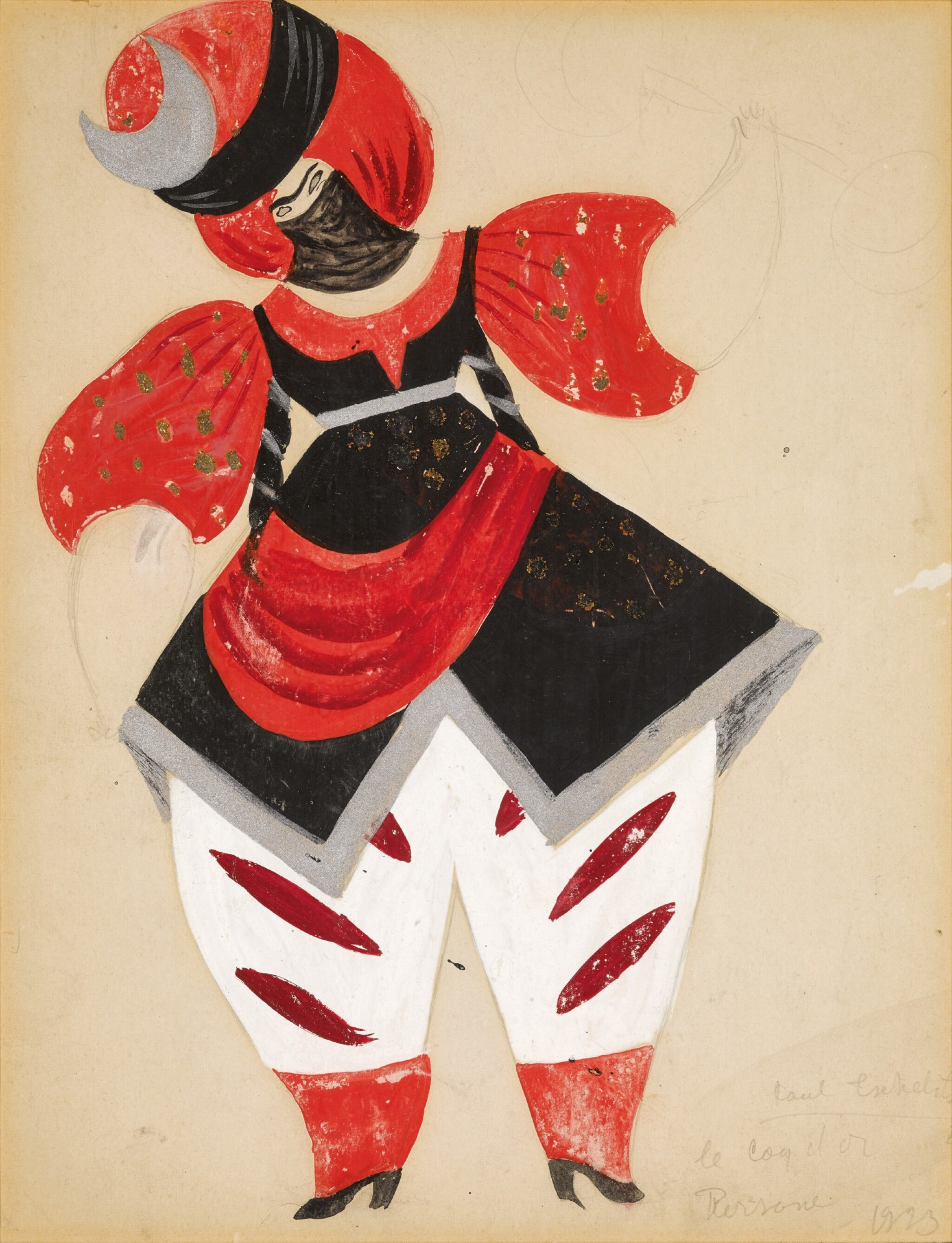 View full screen - View 1 of Lot 80. Costume Design for a Persian in Le Coq d'Or.