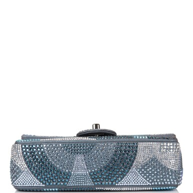 View 6. Thumbnail of Lot 31. Chanel Multicolor Strass Flap Bag of Swarovski Crystals and Grey Leather with Silver Tone Hardware.