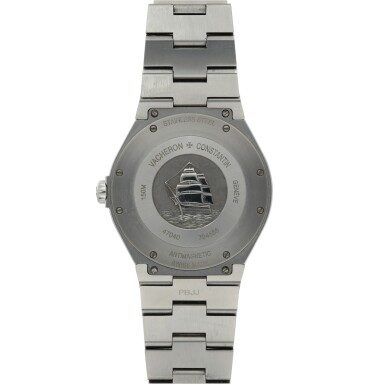 View 3. Thumbnail of Lot 185.  VACHERON CONSTANTIN   REF 47040 OVERSEAS, A STAINLESS STEEL AUTOMATIC CENTER SECONDS WRISTWATCH WITH DATE AND BRACELET CIRCA 2010.