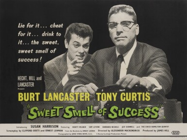 THE SWEET SMELL OF SUCCESS (1955) POSTER, BRITISH