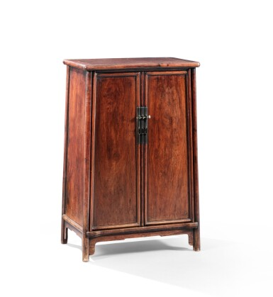 View 4. Thumbnail of Lot 24. A huanghuali rounded-corners cabinet, yuanjiao gui Ming dynasty, 17th century   明 十七世紀 黃花梨圓角櫃.