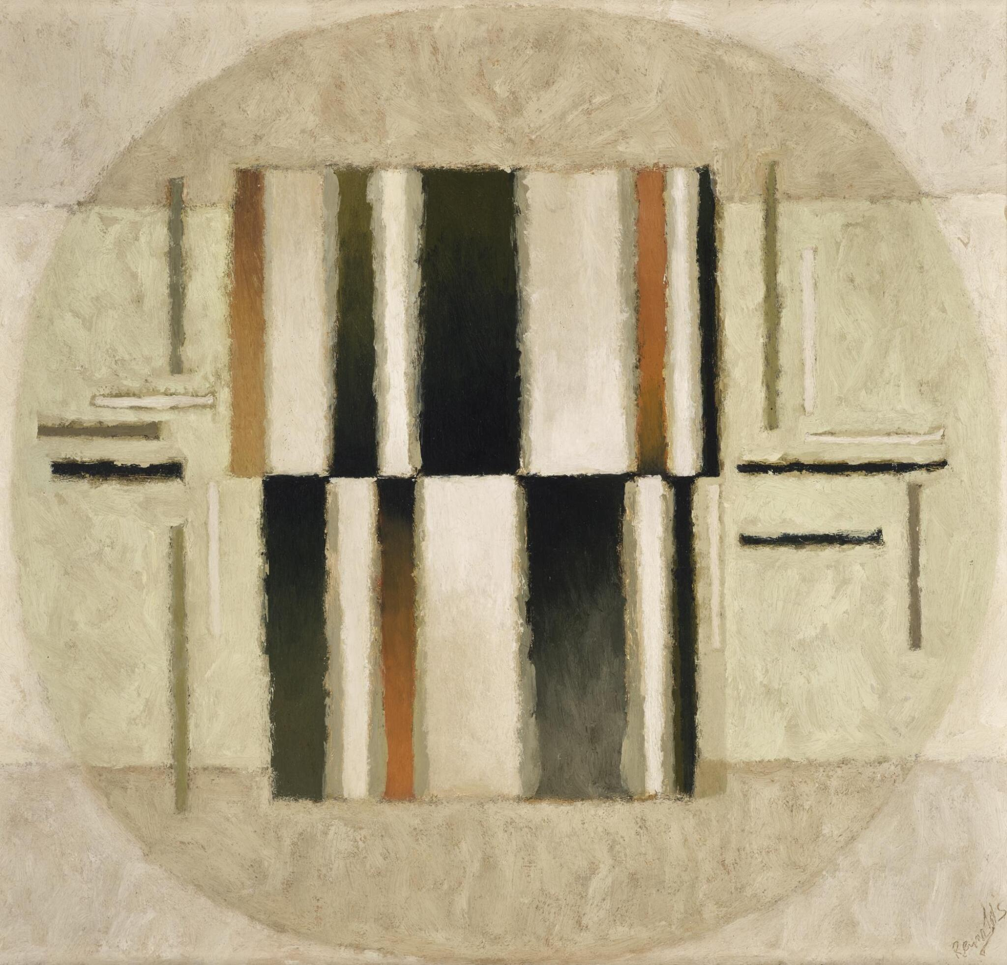 View full screen - View 1 of Lot 74. ALAN REYNOLDS | COMPOSITION WITH OVOID 1964.