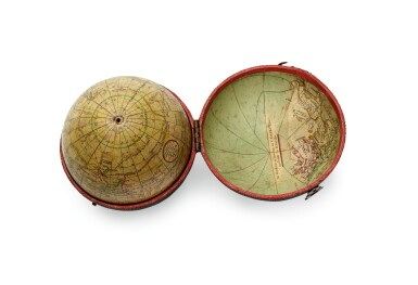 View 2. Thumbnail of Lot 291. Cary. Terrestrial pocket globe in fish skin case. 1791.